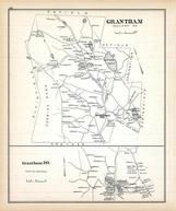 Grantham, Grantham Town, New Hampshire State Atlas 1892 Uncolored